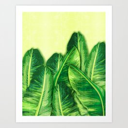 Banana Leaf 2 - Banana Leaf Pattern 2 - Tropical Leaf Print - Botanical Art - Gree Art Print
