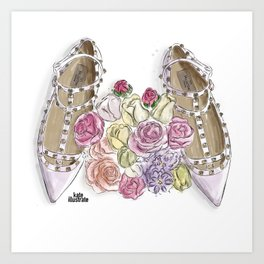 Ballerina's Dream Shoes Art Print