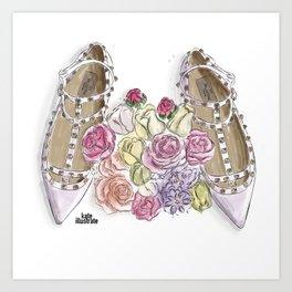 Ballerina's Dream Shoes Art Print