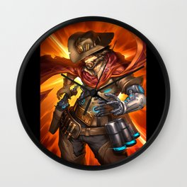 over mccree Wall Clock
