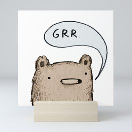 Growling Bear Mini Art Print