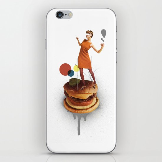 These Burgers Are Crazy   Collage iPhone & iPod Skin