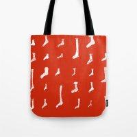 socks Tote Bags featuring Socks by Phie Hackett