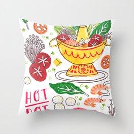 Hot Pot Shabu Shabu Soup Throw Pillow