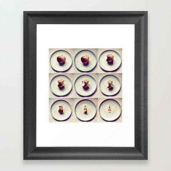 Apple life Framed Art Print