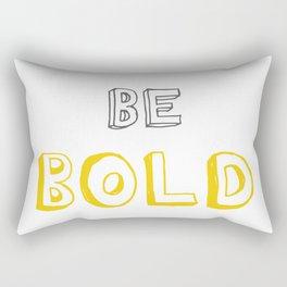 Be Bold Yellow/Grey Rectangular Pillow