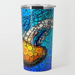 Ocean jellyfish photo bubble art | Go with the flow Travel Mug