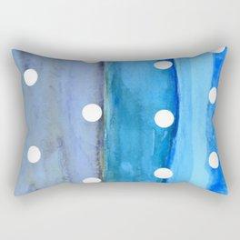 Beach Day Polka Dot Rectangular Pillow