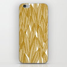 Golden Yellow Leaves iPhone & iPod Skin