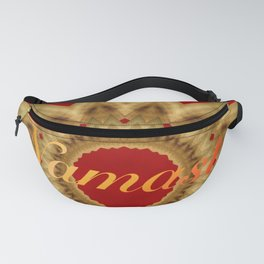 Namaste Gold Red Mandala Design Fanny Pack