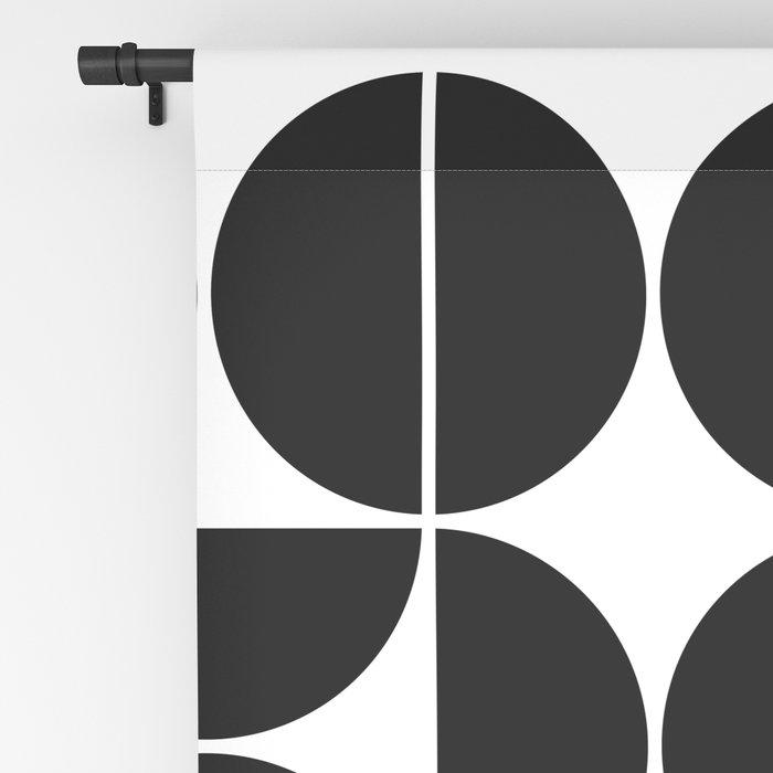 Mid Century Modern Geometric 04 Black Blackout Curtain