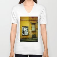 italy V-neck T-shirts featuring italy by sustici
