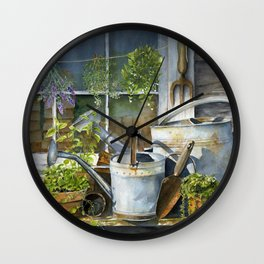 The Potting Shed Wall Clock