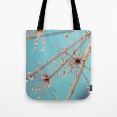 Queen Anne's Lace in Blue Tote Bag