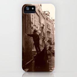 Gondolier in Venice iPhone Case