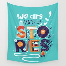 We Are Made of Stories Wall Tapestry