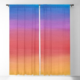 Be Yourself Sunset Watercolor Quote Blackout Curtain