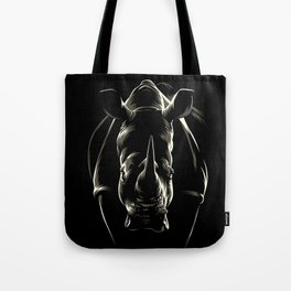 The shadow of the rhinoceros Tote Bag
