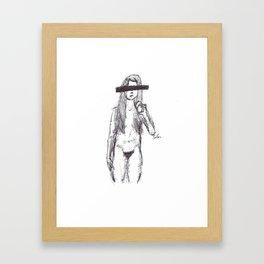 Here Framed Art Print