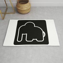 Elephant Bw Rug