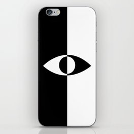 Eye - in a black has a white And in a white has a black iPhone Skin