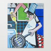 chef Canvas Prints featuring Chef by CENTELLES