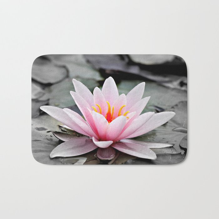 Memory Foam Water Lily.Pink Lotus Flower Waterlily Bath Mat