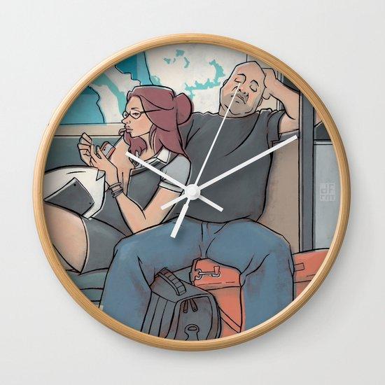SUBWAY COUPLE Wall Clock