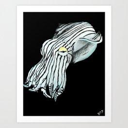 Pajama Squid Art Print