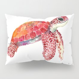 Turtle Children Animal design Red, pink Orange cute turtle Pillow Sham