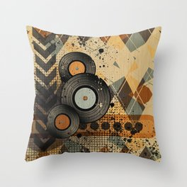 Retro Vinyl. Throw Pillow