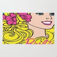 barbie Area & Throw Rugs featuring Blonde Barbie by LuxuryLivingNYC