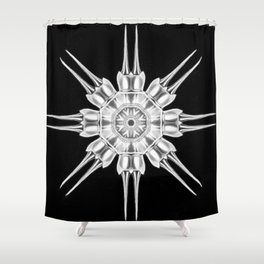 Ninja Star 4 Shower Curtain