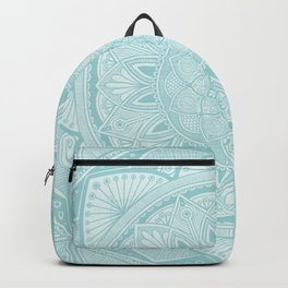 Powder Blue Mandala 3 Backpack