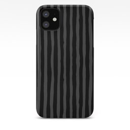 Black and Grey Stripe iPhone Case