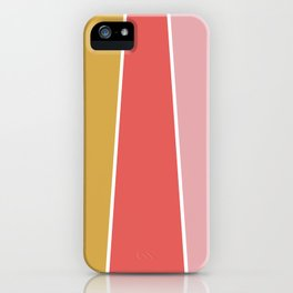 Summer Garden Color Block iPhone Case