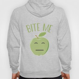 Cool Emoticon Bite Me Apple Hoody