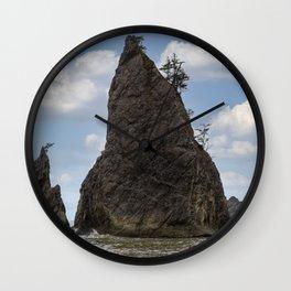 Coastal Ocean Beach Rock Formations Wall Clock