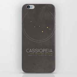 Cassiopeia - The Seated Queen Constellation iPhone Skin