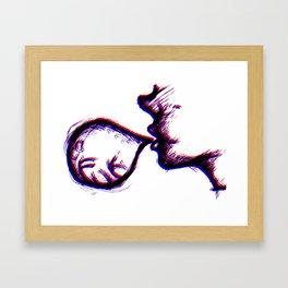 Word Bubble Framed Art Print