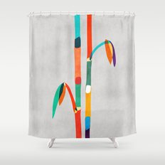 Couple of Bamboo Shower Curtain