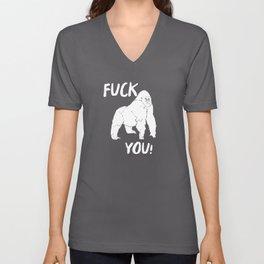 Fuck You Gorilla Gift Idea Unisex V-Neck
