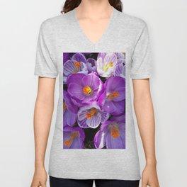 flowering crocuses Unisex V-Neck