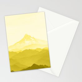 Illuminating Yellow 2021 Color Of The Year Pantone Mountains Adventure Stationery Cards