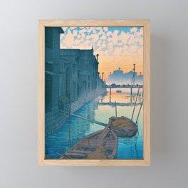 DAIKONGASHI MONING - Kawase Hasui Framed Mini Art Print