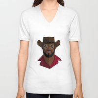 django V-neck T-shirts featuring Django Unchained by justdan