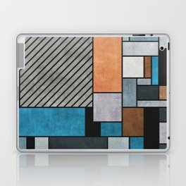 Random Concrete Pattern - Blue, Grey, Brown Laptop & iPad Skin