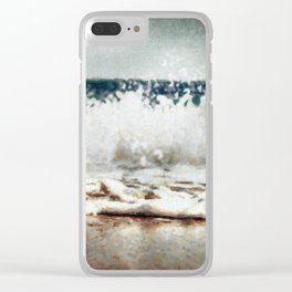 Sea Wave print Clear iPhone Case