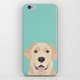 Yellow Lab dog portrait labrador retriever dog art pet friendly iPhone Skin