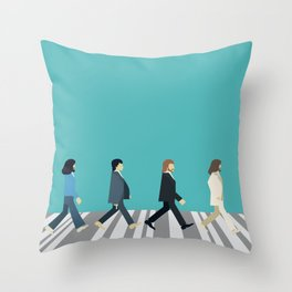The tiny Abbey Road Throw Pillow